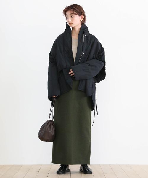 [select MOCA] レイヤードキルティングジャケット/重ね着風オーバーサイズショートダウン15