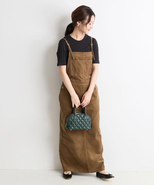 [IENA] LE DENIM ロングジャンパースカート【洗濯機洗い可能】