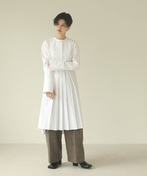 [TODAYFUL] キルティングシャツドレス