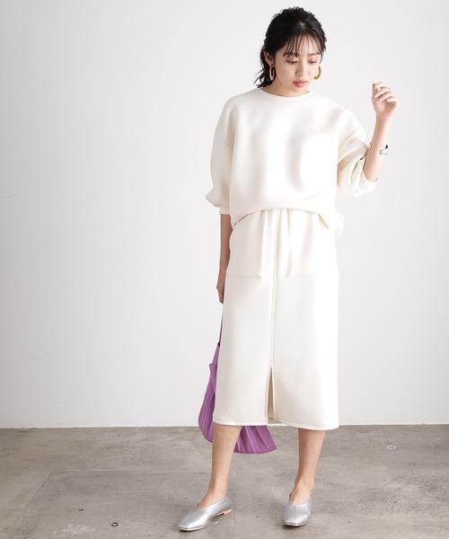 ViS] 【田中みな実さん着用】【スフレタッチ】ダンボールニットタイトスカート