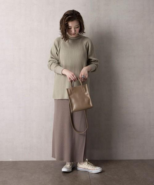 【WEB限定】ラップニットスカート(巻きスカート)