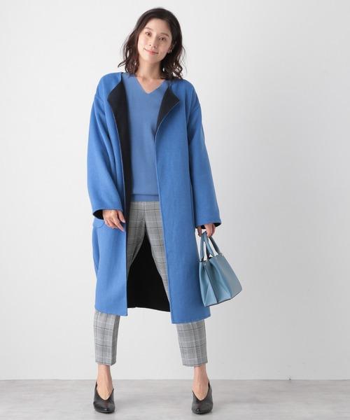 リバーコートの冬ファッション