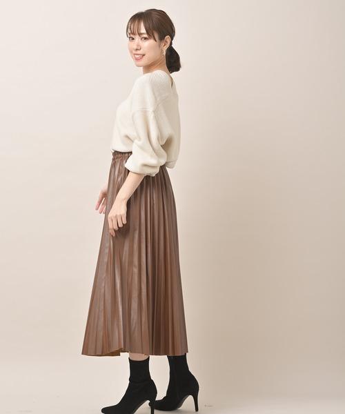 [rps] エコレザープリーツスカート
