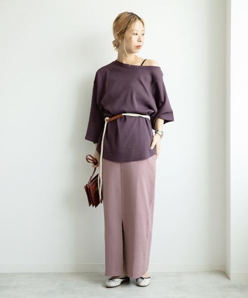[LE FOYER] 2WAYロングタイトスカート