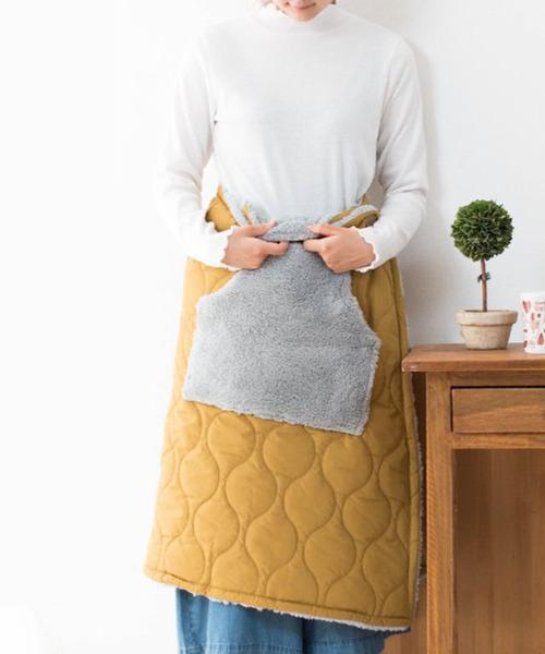 キルティング×ボア 巻きスカート