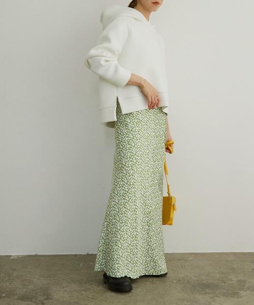 ROPE'] 【新色追加】ヴィンテージライクフラワーマーメイドスカート