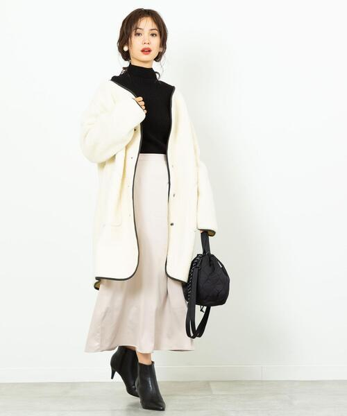 [coen] 【WEB限定】復刻ボアノーカラーパイピングジャケット#(コート/アウター)