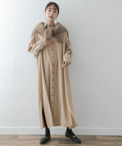 [URBAN RESEARCH ROSSO WOMEN] F by ROSSO Aラインシャツワンピース