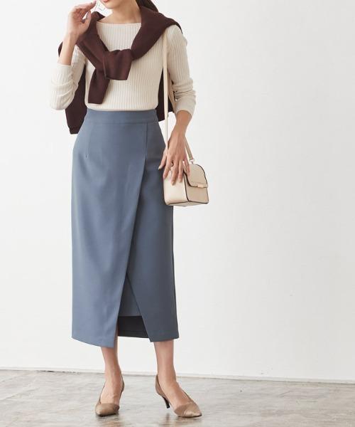 ラップスリットタイトスカート