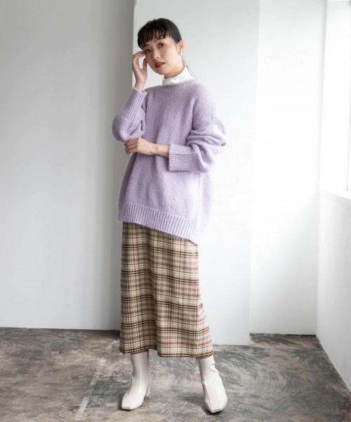 [LOWRYS FARM] チェックタイトスカート 895799