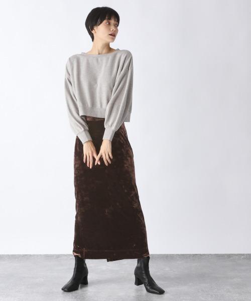 クラッシュベロアナロースカート/920088