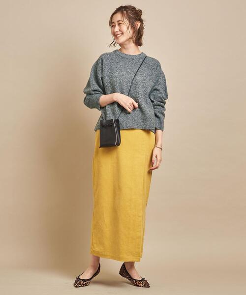 ロングタイトスカートのおしゃれコーデ