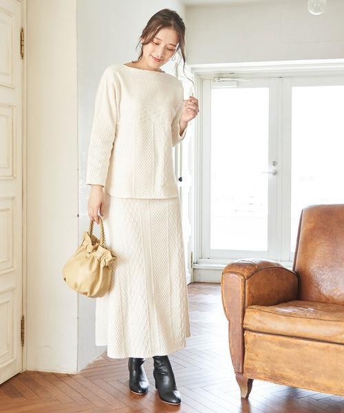 [ROPE' PICNIC] 【セットアップ対応】カットケーブルAラインスカート