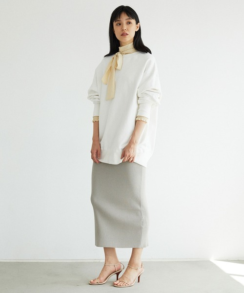 リブニットタイトスカート【オンラインストア限定商品】
