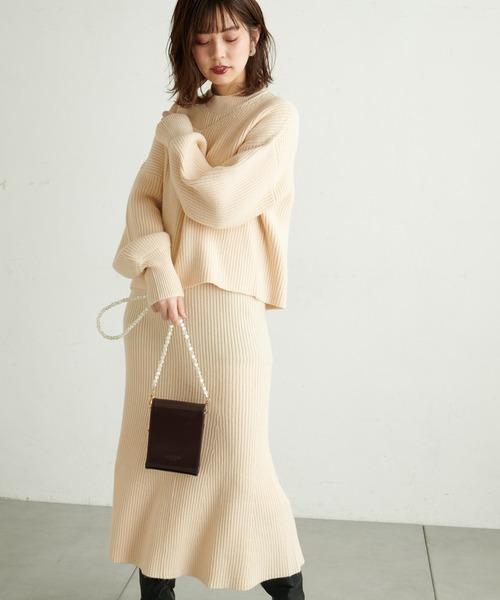 出典:zozo.jp [natural couture] 【WEB限定】セットアップガーリーニットワンピース