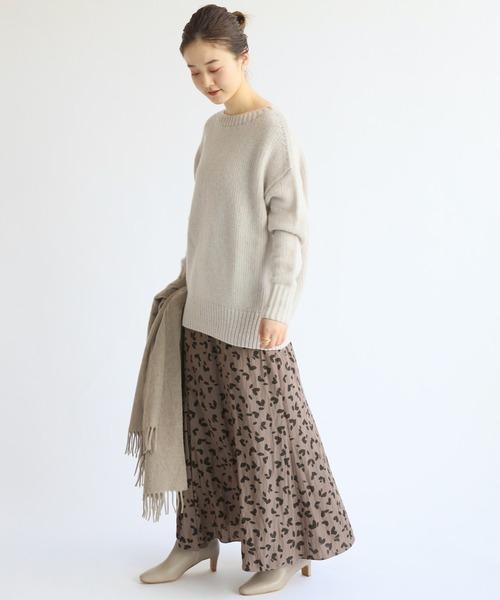 [IENA] ニュアンスレオパードフレアスカート◆27