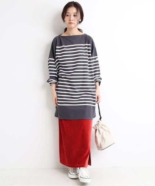 [IENA] コールカットタイトスカート【手洗い可能/ウエストゴム】◆34
