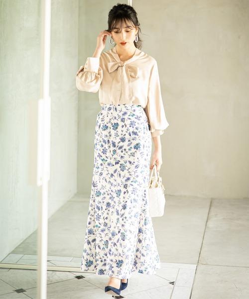 サラサ風プリントスカート