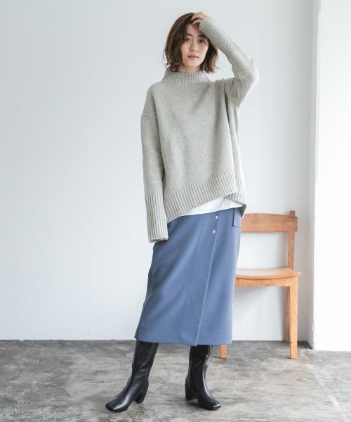 ウールライクタイトミディスカート 920205