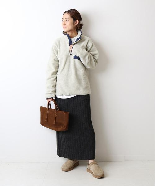 [Spick & Span] ワイドリブポケット付き ニットスカート◆