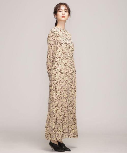 NE QUITTEZ PAS/FINE CRAPE FLOWER DRESS