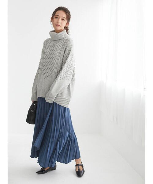 《春まで活躍》ラップ風プリーツロングスカート○*