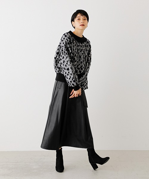 [AZUL BY MOUSSY] LEOPARD JACQUARD KNIT/レオパードジャガードニット 5
