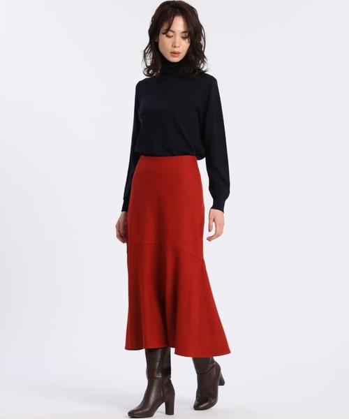 [SUPERIOR CLOSET] ウールジャージマーメイドスカート【セットアップ対応】