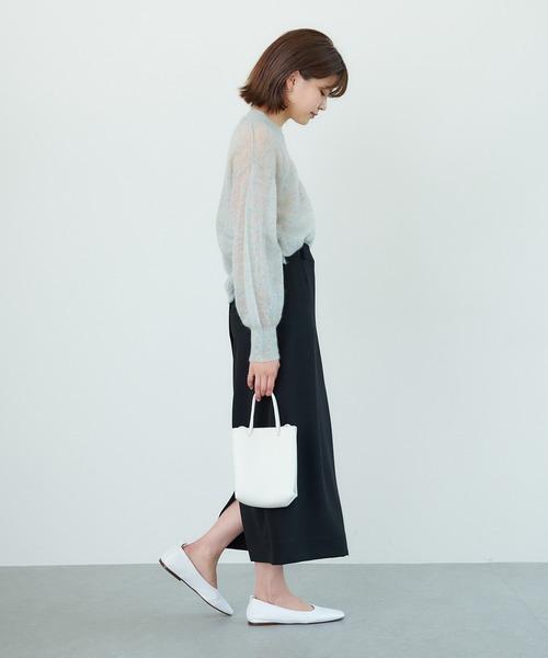 [GALLARDAGALANTE] バックボタンタイトスカート