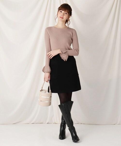 [Couture brooch] ビックポケットディテール台形ミニスカート