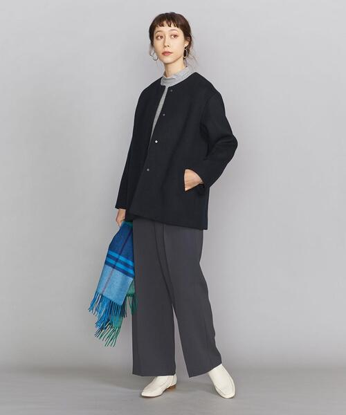 [BEAUTY&YOUTH UNITED ARROWS] BY ビーバーノーカラーショートコート13