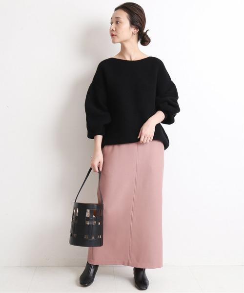 [IENA] ウール混ツイルロングタイトスカート【手洗い可能】◆6