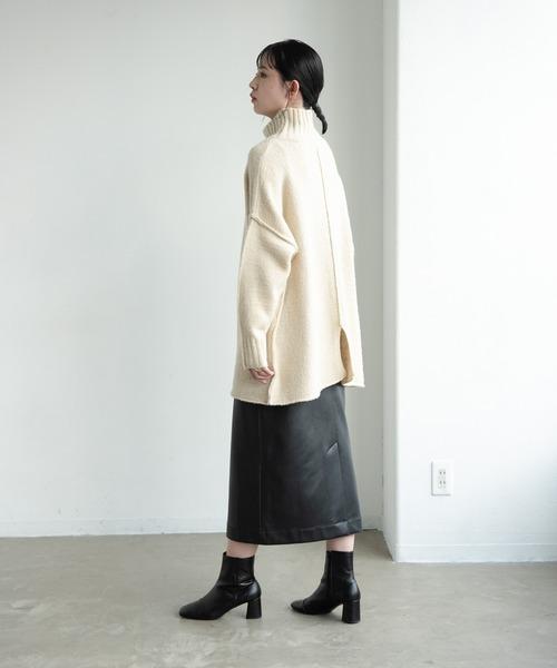 エコレザータイトスカート/AUNT MARIE'S
