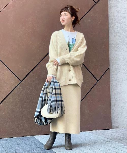 [Spick & Span] WHITE YAK タイトスカート◆