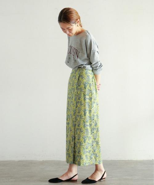 [NOMBRE IMPAIR] color plant ストレートスカート