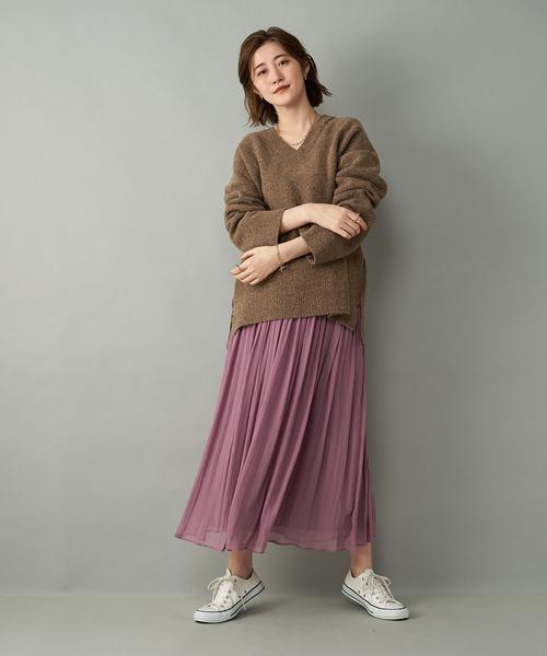 シーズン問わず着回せる優秀アイテム 楊柳ギャザースカート (フレア)