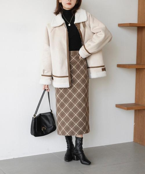 【Mayree】フェイクムートンフライトジャケット