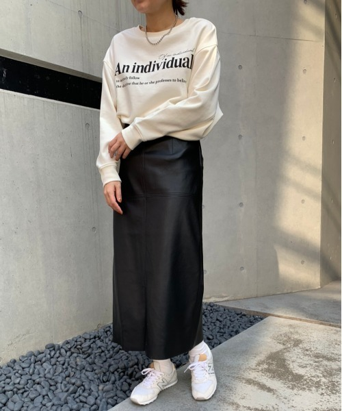 [Discoat] エコレザーナロースカート