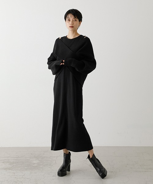 [AZUL BY MOUSSY] TWIST LAYERED ONE-PIECE/ツイストレイヤードワンピース