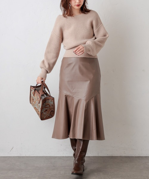 エコレザーマーメイドスカート