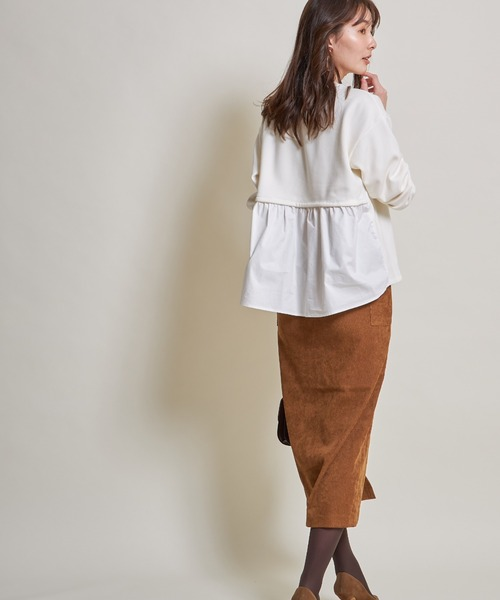 ストレッチコーデュロイタイトスカート