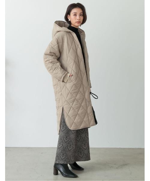[Re:EDIT] [サステナブル][低身長向けサイズ有]リサイクル中綿オーバーサイズキルティングコート12