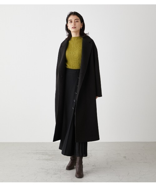 [AZUL BY MOUSSY] WASHABLE CHESTER LONG COAT/ウォッシャブルチェスターロングコート