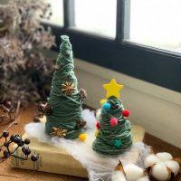 【連載】子供とおうちで作れる★毛糸で簡単手作りクリスマスツリー