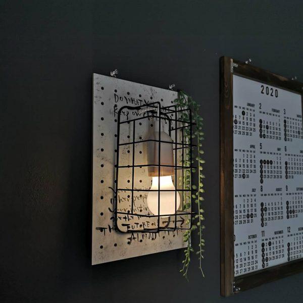 100均DIYで作るカフェ風間接照明