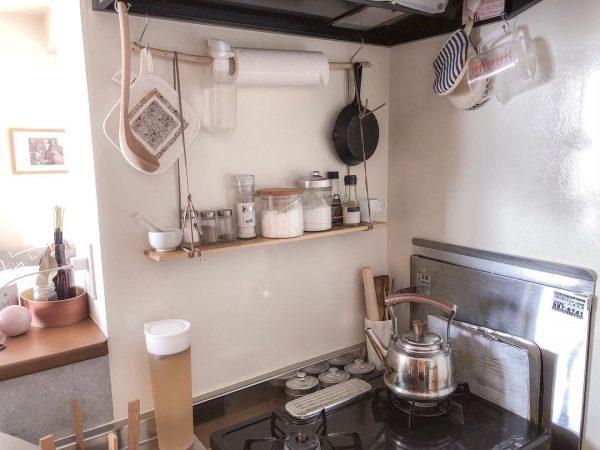 キッチンは壁面を上手に使う