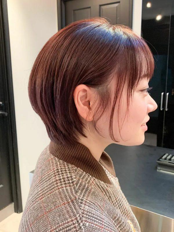 イエベ春に合う暗めの髪色【ショート】3