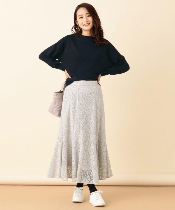 [any SiS] 【洗える】キモウレースフレア スカート