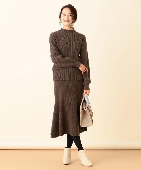 [any SiS] 【洗える】マーメイドニット スカート