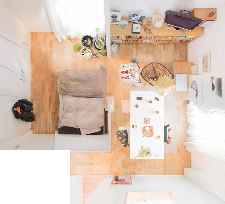 建築とインテリアを愛する二人の部屋